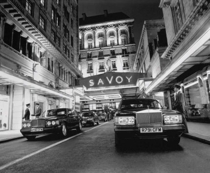 The Savoy Hotel today, London, on the site of the Savoy Palace raised by the peasants in 1381.