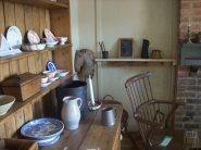 Inside the Fisherman's cottage furnished as it migth've looked in 1850
