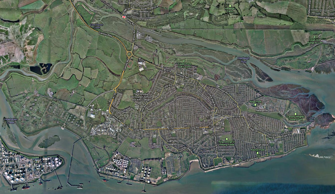 Old Map Of Canvey Island