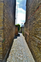 A old cobbled alleyway