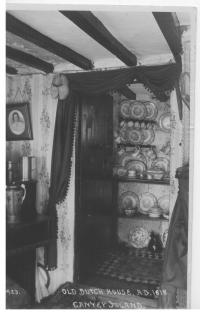 Inside the Northwick Cottage in 1920 - note the clogs hanging on the wall as a nod to the house's origins