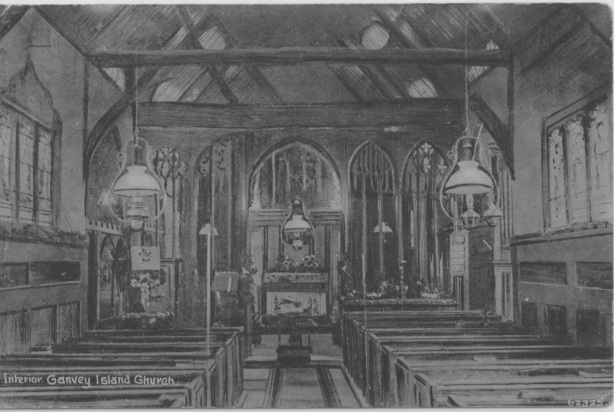 This picture shows the old interior of the church