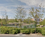 Google StreetView of one of the gardens with sculptures, from the road in