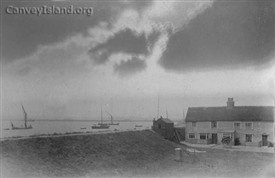 1895, possibly the earliest photograph remaining of the Lobster Smack. Courtesy of Richard & Barbara Kovelant