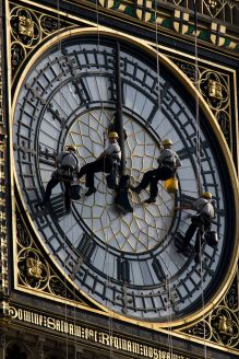 "Some unlucky people had this job! The clockface is cleaned every 5-7 years and costs ""less than you might think"""