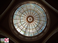 The dazzling glass dome inside the Kursaal
