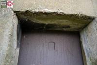 Metal shutter still intact