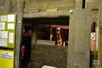 Into a WW1 dugout - one of the many impressive immerse exhibits at the museum