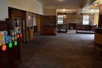 Inside the former pub