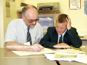 Student with teacher