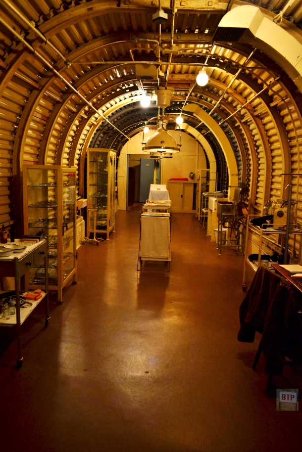 The Operating Theatre within the Underground Hospital was built in 1941-2 as a Medical Dressing Station for aircraft pilots recovered from the Channel, and to serve the military and civilian population in Dover affected by the heavy shelling from France.