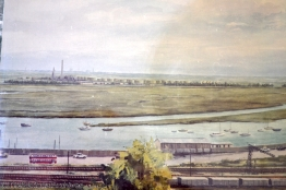 Painted artists imrpession of the refinery