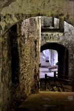 The medieval tunnels connecting up to the Napoleonic caponier