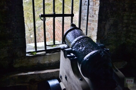 Mortar in the caponier