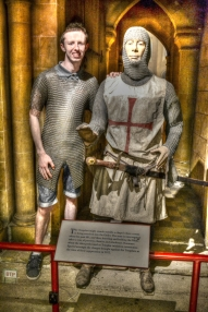 BTP Joe tries on some early Medieval-style chainmail