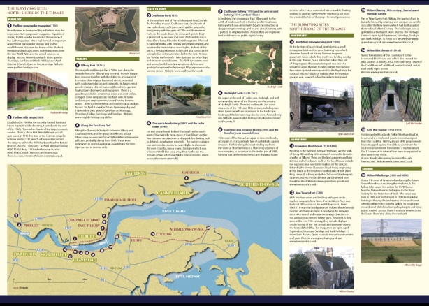 Map of defences/military remains along the Thames from Kent County Council